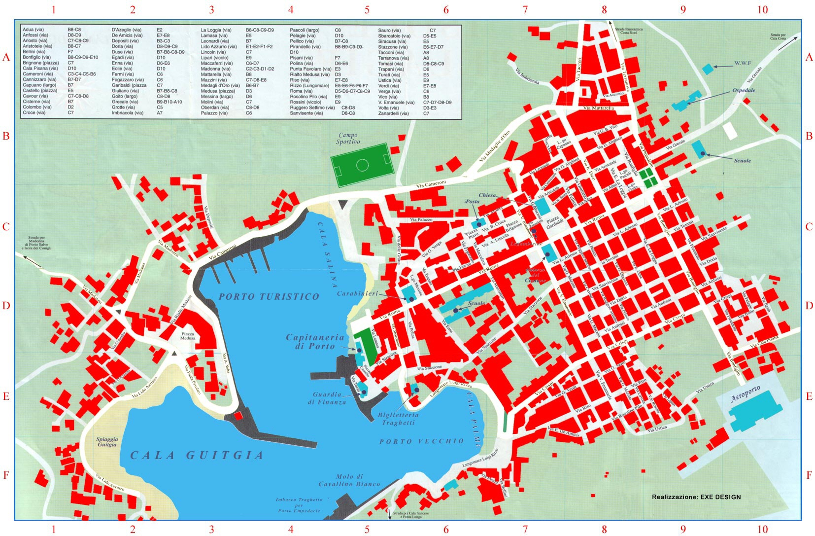 Lampedusa Cartina Dettagliata.Mappa Di Lampedusa Mappa Dal Satellite Di Lampedusa Carta Lampedusa Stradario Lampedusa